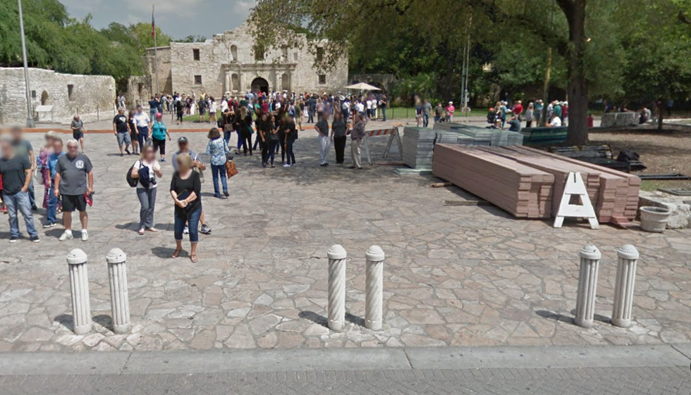 Precast Concrete Bollards at the Alamo in San Antonio