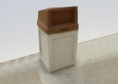 Concrete Trash Can